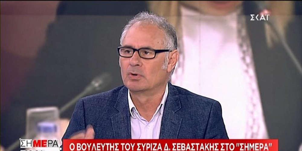 Ο Σεβαστάκης αγνόησε τον Σκουρλέτη και «έσπασε» το εμπάργκο του ΣΥΡΙΖΑ στον ΣΚΑΪ