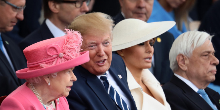 Απόβαση στη Νορμανδία: Ο Παυλόπουλος δίπλα στους Τραμπ και την βασίλισσα Ελισάβετ