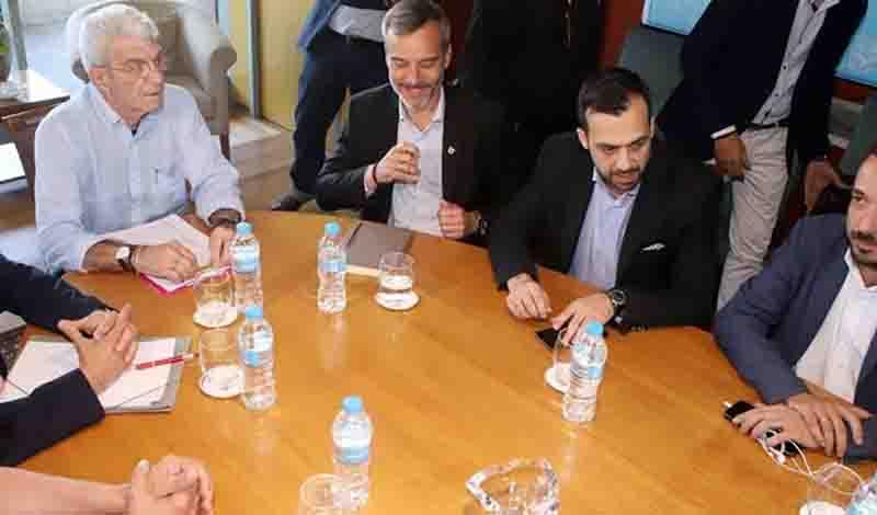 Συνάντηση Μπουτάρη – Ζέρβα στο δημαρχείο Θεσσαλονίκης – «Καλορίζικος» είπε ο Μπουτάρης (φωτο)