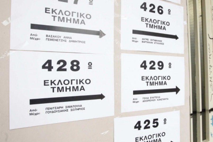 Αλλαγές σε πολλά εκλογικά τμήματα ‑ Βρείτε εγκαίρως που ψηφίζετε
