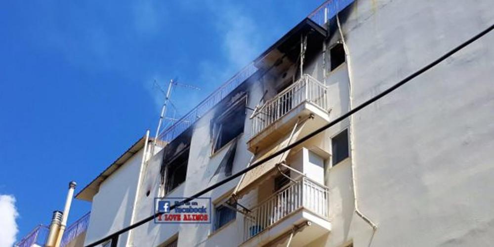 Αναστάτωση από φωτιά σε γειτονιά του Ηρακλείου – Εξερράγη γκαζάκι