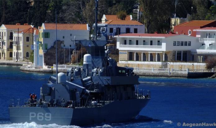 Μετακίνηση ψηφοφόρων από τη Ρόδο στο Καστελόριζο με μέσα του Πολεμικού Ναυτικού