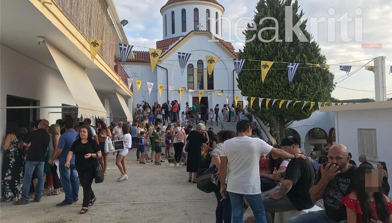 Πλήθος πιστών στη θαυματουργή Αγία Μαρίνα Βόνης