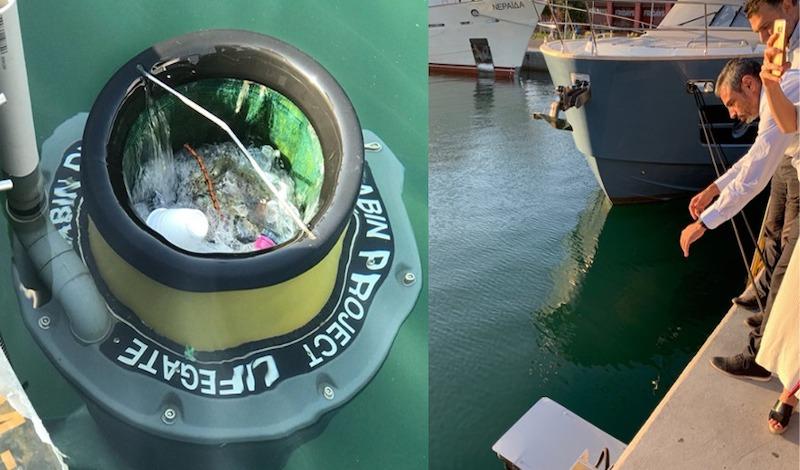 Η πρώτη συσκευή που καθαρίζει τη θάλασσα από τα πλαστικά, τοποθετήθηκε στην Μαρίνα Φλοίσβου