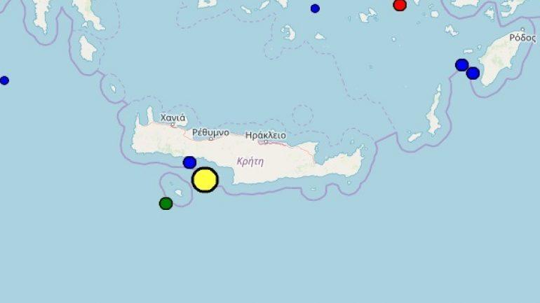 Σεισμός 4,2 Ρίχτερ κοντά στη Γαύδο