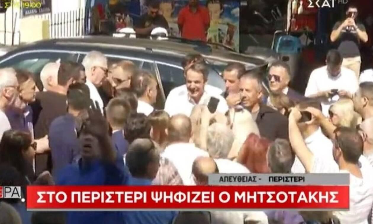 Ένταση στο εκλογικό κέντρο που ψήφισε ο Μητσοτάκης