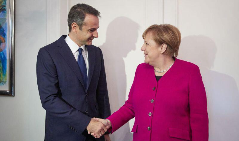 Μέρκελ: Καμία «έκπτωση» στο χρέος λόγω Κυριάκου Μητσοτάκη