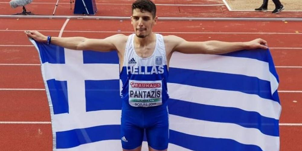 Χάλκινο μετάλλιο ο Πανταζής στο τριπλούν στο Ευρωπαϊκό εφήβων