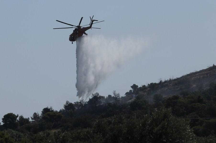 Υπό μερικό έλεγχο η δασική πυρκαγιά στη Μάνδρα
