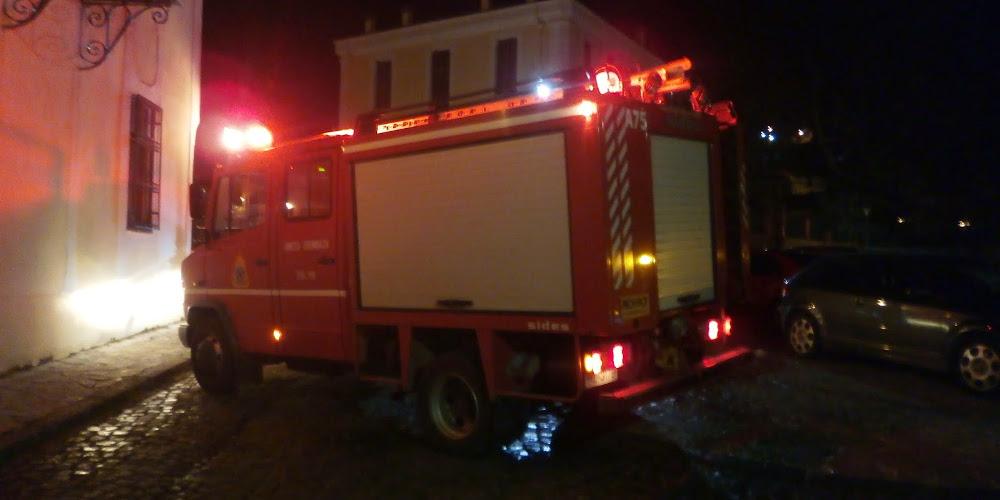 Συναγερμός για φωτιά στο ιστορικό κέντρο της Μυτιλήνης