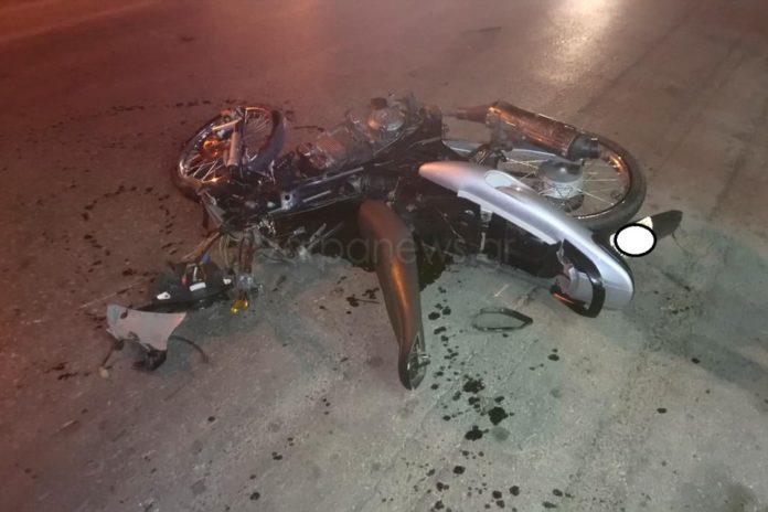 Χανιά – Σοβαρό τροχαίο με μηχανάκι στην Κισσάμου (Photos)