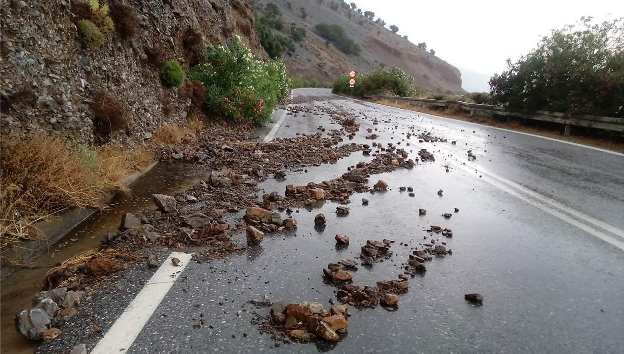 Σητεία: Η καταρρακτώδης βροχή προκάλεσε ζημιές σε ελιές και κατολισθήσεις