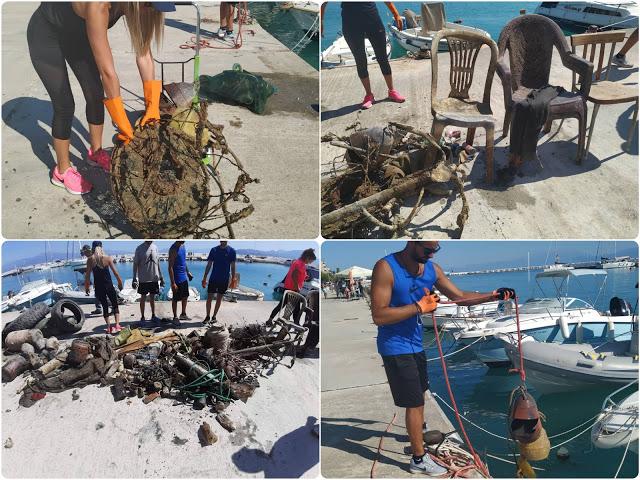 Απίστευτες εικόνες στο Κιάτο: Δύτες βούτηξαν στο λιμάνι και ψάρεψαν… χαλιά και στάμνες