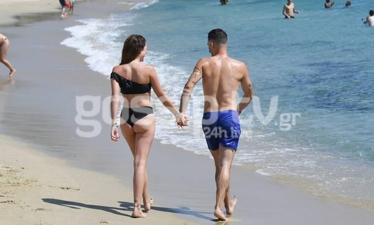 Καλλονή του GNTM ερωτεύτηκε! Τα καυτά φιλιά σε παραλία της Μυκόνου! (photos)
