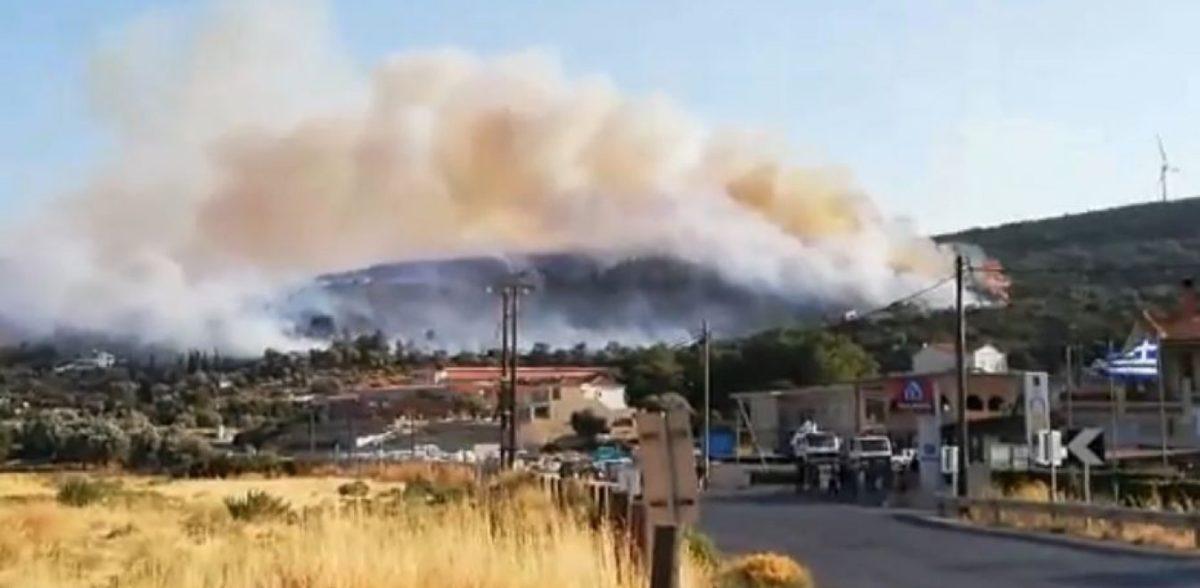 Μέσα σε σπίτια η φωτιά στη Σάμο – Εκκενώνονται ξενοδοχεία