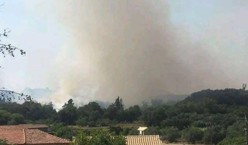 Σε περιορισμό τέθηκε η φωτιά στη Νότια Κέρκυρα