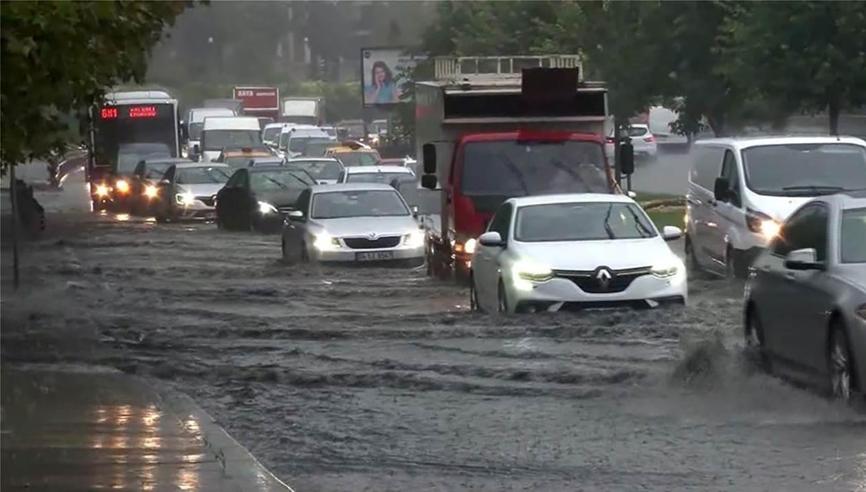 Πλημμύρισε η Κωνσταντινούπολη – Ένας νεκρός