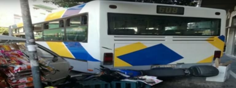 «Τρελό» λεωφορείο σκορπά τον πανικό στου Ζωγράφου – Video