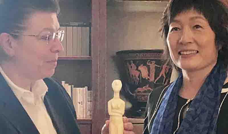 Συνάντηση της Λίνας Μενδώνη με την πρέσβη της Λαϊκής Δημοκρατίας της Κίνας