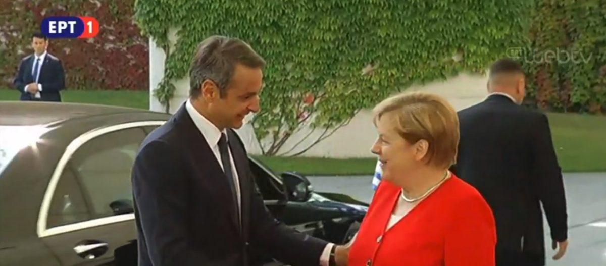 Η υποδοχή του Κ.Μητσοτάκη από την Α.Μέρκελ στο Βερολίνο (βίντεο-φώτο)