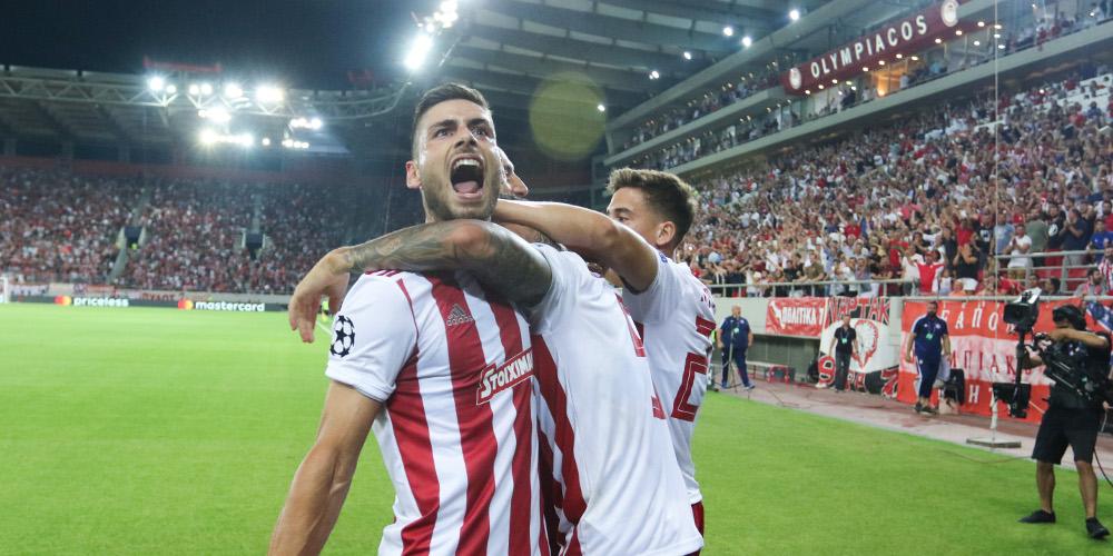 Champions League: Ο Ολυμπιακός σφράγισε το εισιτήριο για τους ομίλους  4-0 την Κράσνονταρ