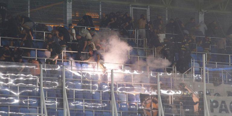 Σλόβαν Μπρατισλάβας – ΠΑΟΚ: Η στιγμή που η αστυνομία πυροβολεί οπαδούς του ΠΑΟΚ (vid)