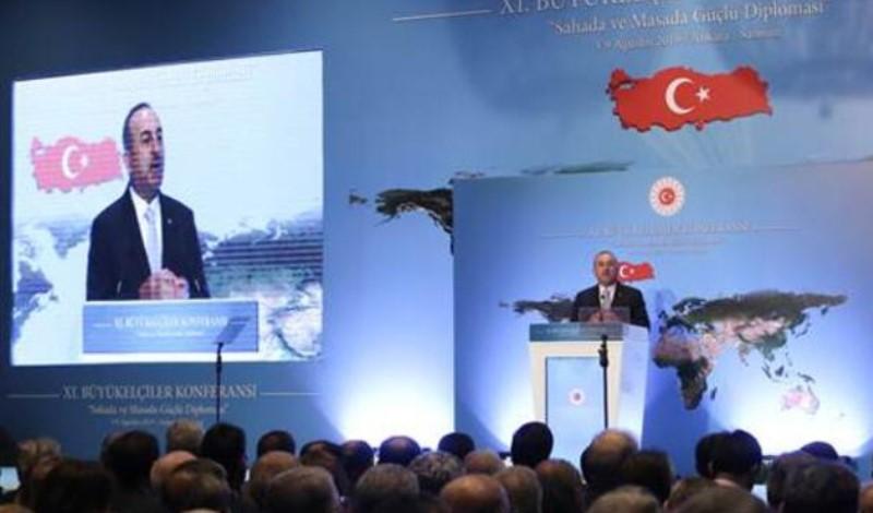 Το τερμάτισε ο Τσαβούσογλου! Πρόβαλε χάρτη με την ΑΟΖ της Τουρκίας να φτάνει μέχρι την Κρήτη