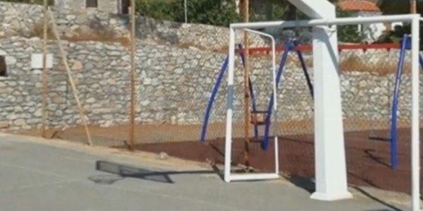 Παραλίγο τραγωδία στη Σπάρτη: Σιδερένιο τέρμα καταπλάκωσε 10χρονο αγόρι (vid)