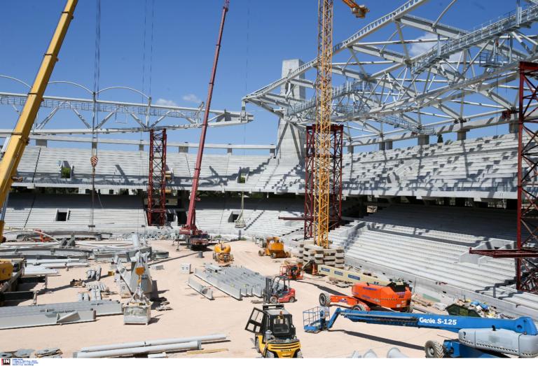 Γήπεδο ΑΕΚ: Έτοιμος ο σκελετός της «Αγιά-Σοφιάς»! «Σηκώθηκε» η παλιά… Σκεπαστή – pics