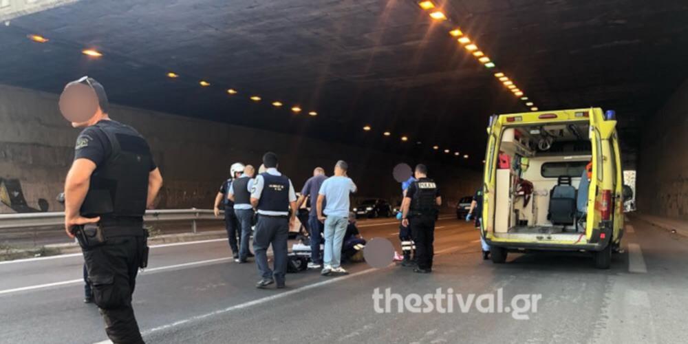 Σοκ στη Θεσσαλονίκη: Πήδηξε από γέφυρα για να αυτοκτονήσει και έπεσε σε μοτοσικλετιστή