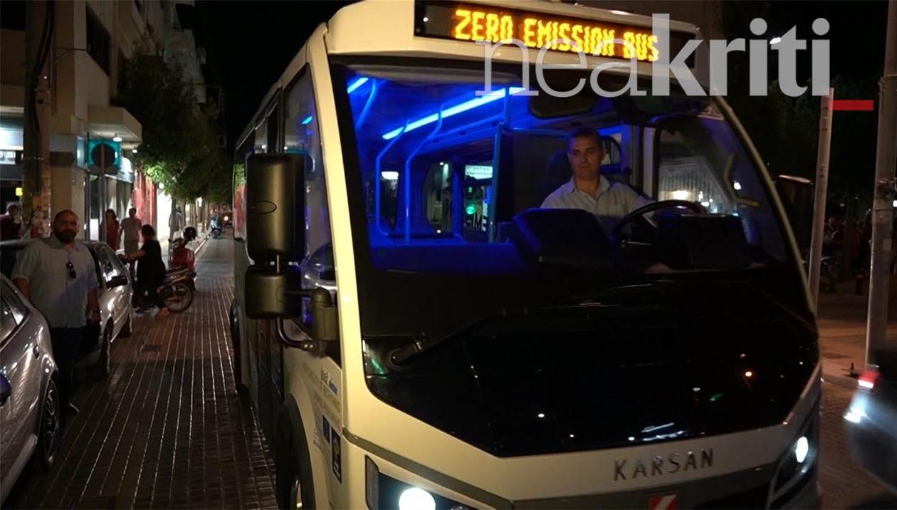 Το πρώτο οικολογικό λεωφορείο των… μηδενικών ρύπων στο Ρέθυμνο!