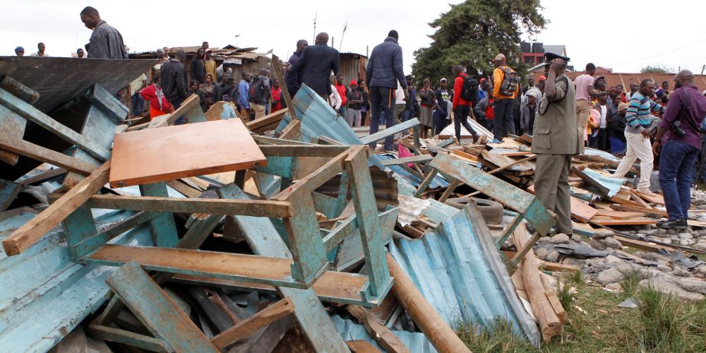 Επτά μαθητές νεκροί από την κατάρρευση αίθουσας σε σχολείο στην Κένυα