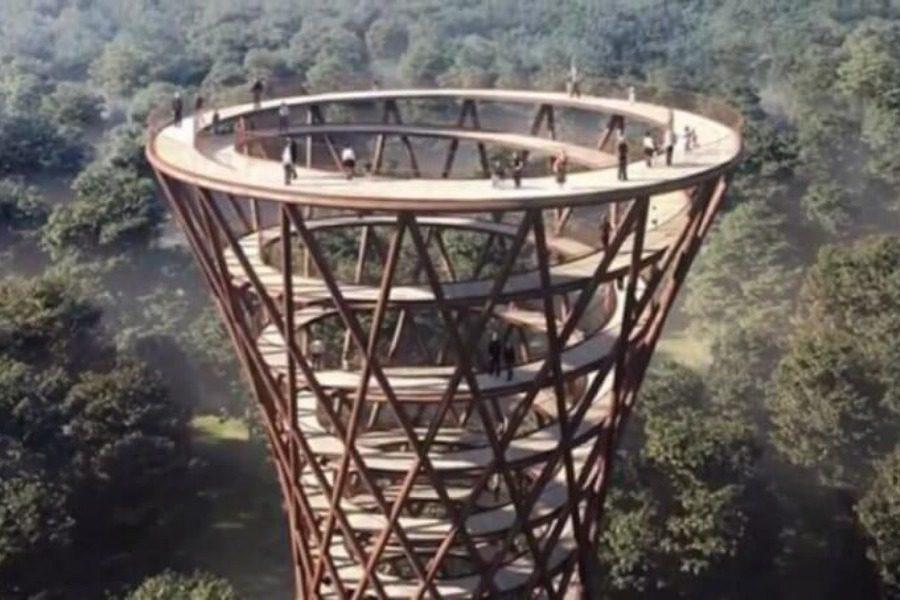 Ο πύργος κλεψύδρα της Ευρώπης που προκαλεί ίλιγγο