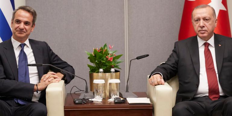 Τι συζήτησαν Μητσοτάκης με Ερντογάν -Ολα τα «καυτά» θέματα στο τραπέζι