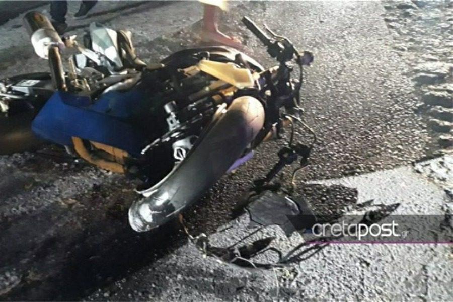 Σοκαριστικό βίντεο από θανατηφόρο τροχαίο στο Ηράκλειο με νεκρό αναβάτη μηχανής