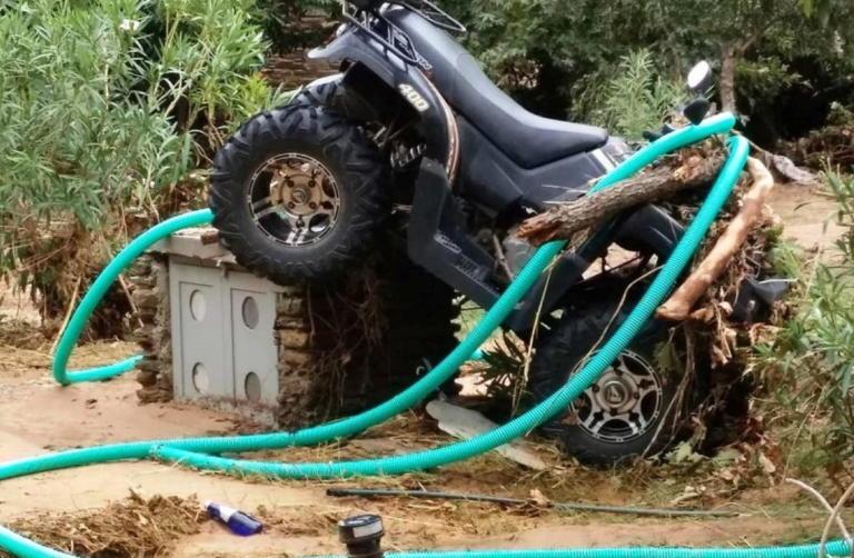 Ανυπολόγιστες ζημιές στο ξενοδοχείο Μενεγάκη – Παντζόπουλου στην Άνδρο! – ΦΩΤΟ