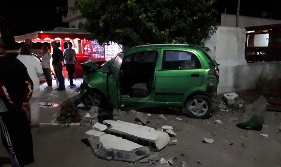 Κρήτη: Η σφοδρή σύγκρουση έριξε … και τοίχους!