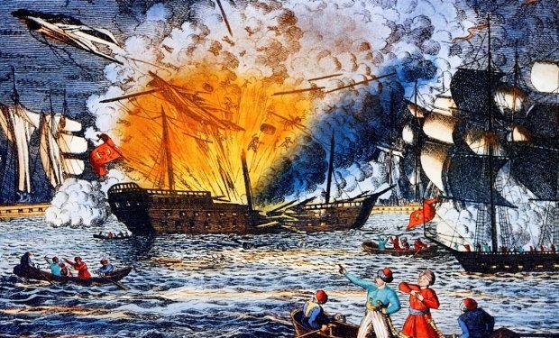 Ναυμαχία της Τενέδου: Ο οθωμανικός στόλος τυλίγεται στις φωτιές από τους Έλληνες πυρπολητές