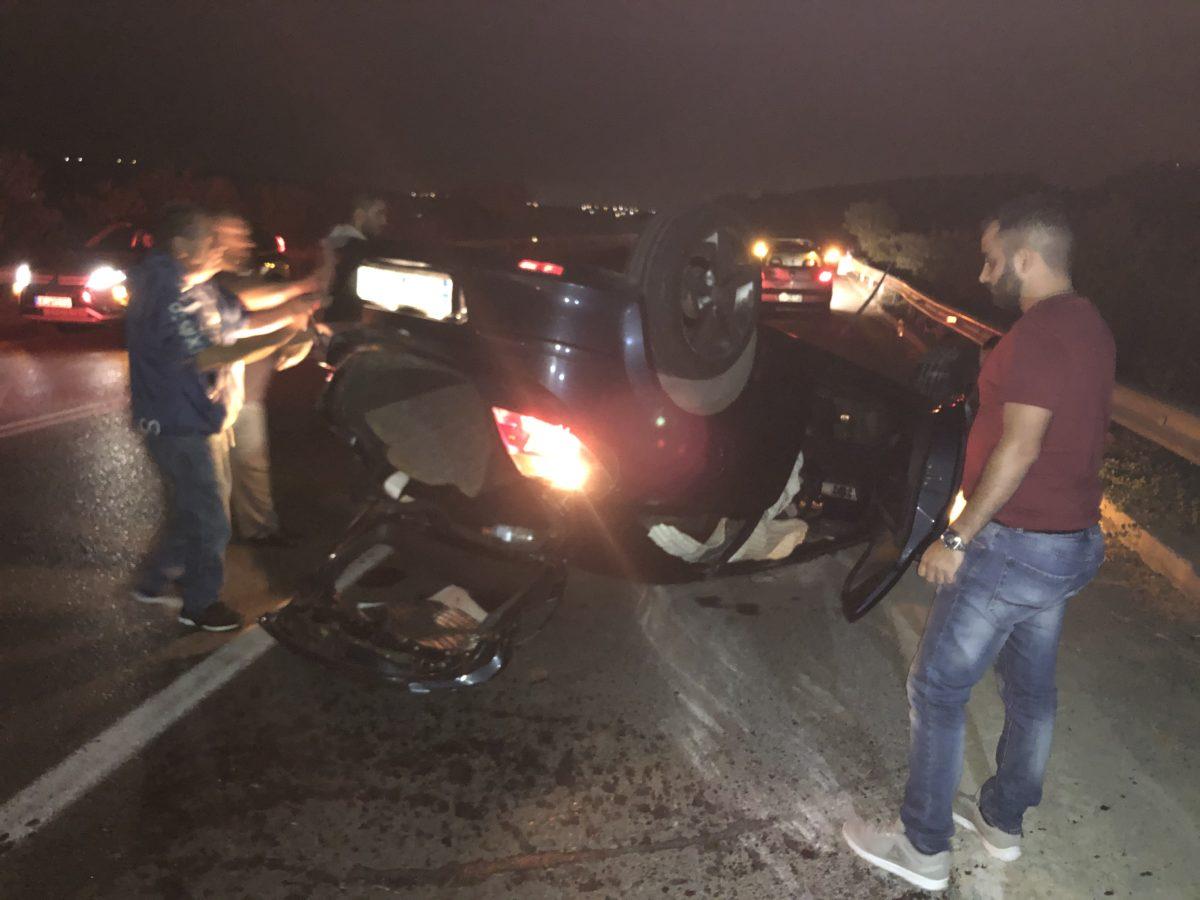 Ανατροπή οχήματος στον νέο δρόμο Σκαλανίου – Πεζών