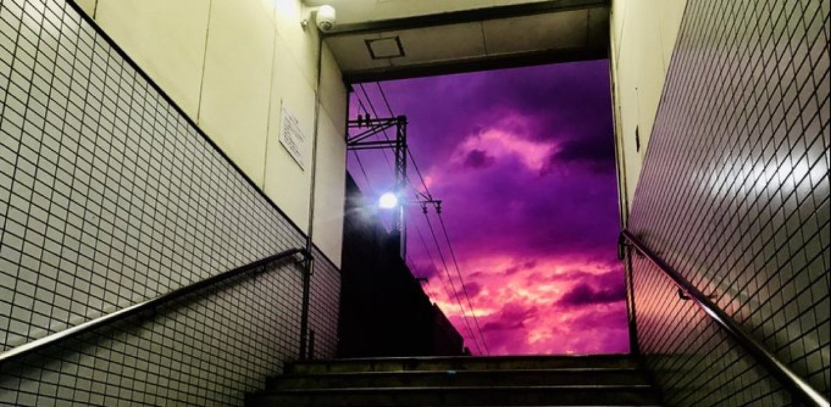 Ιαπωνία: Μοβ ο ουρανός, καθώς πλησιάζει ο τυφώνας Hagibis (pics)