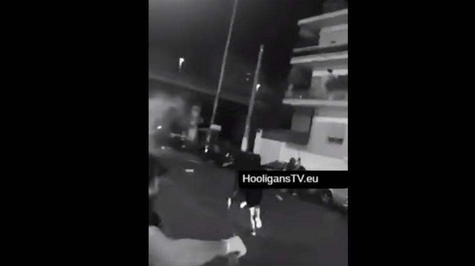 Βίντεο από τα επεισόδια ανάμεσα σε οπαδούς στα Πετράλωνα