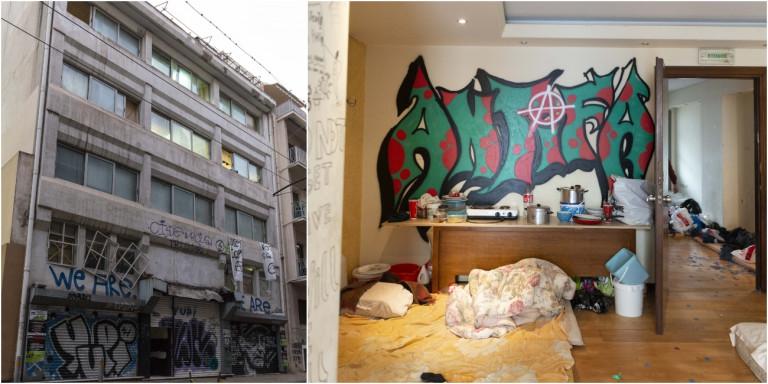 Εξάρχεια: Εδώ ζούσαν οι 138 μετανάστες στο κτίριο που εκκενώθηκε -Άθλιες συνθήκες [εικόνες]