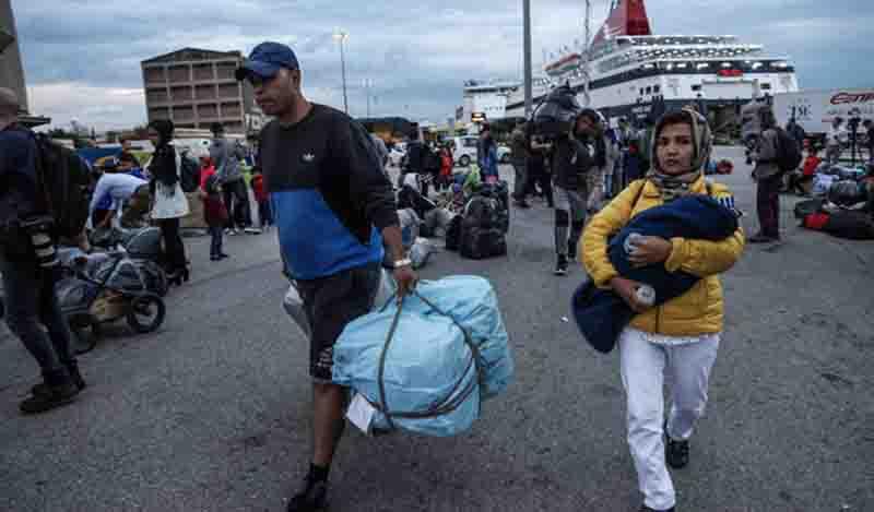 Στο λιμάνι του Πειραιά το «Διαγόρας» με 367 μετανάστες και πρόσφυγες από Μυτιλήνη