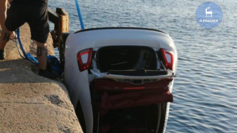 Ρόδος: Αυτοκίνητο έπεσε στο λιμάνι, ένας νεκρός