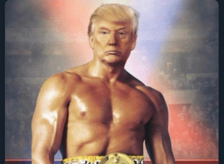 """Αινιγματική ανάρτηση του Τραμπ ως """"Ρόκι"""" βάζει φωτιά στο Twitter"""