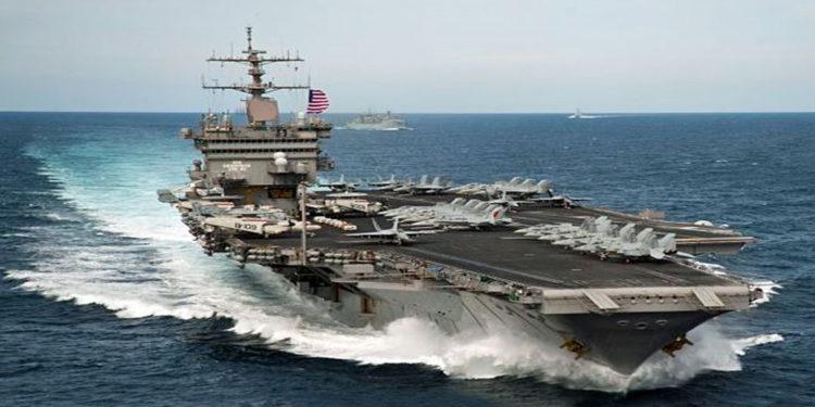 USS Gerald R. Ford: Το θηριώδες αεροπλανοφόρο των 100.000 τόνων κάνει «ντριφτ» στο νερό [vid]