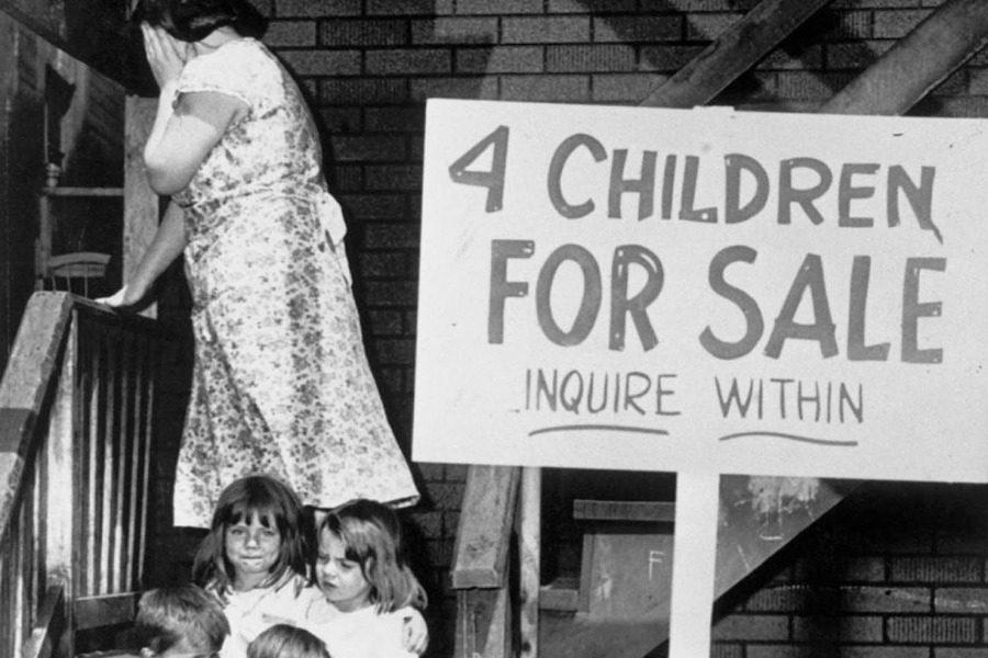 «4 παιδιά προς πώληση»: Η τραγική ιστορία της φωτογραφίας του 1948