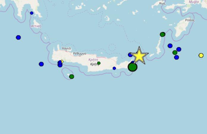 Γυροφέρνουν την Κρήτη οι σεισμοί – Ο μεγαλύτερος 4,8 τα ξημερώματα