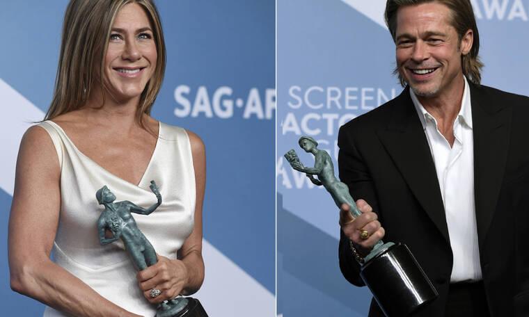 Ο Brad Pitt και η Jennifer Aniston ήταν αγκαλιά μαζί στα SAG Awards και το Twitter παραληρεί