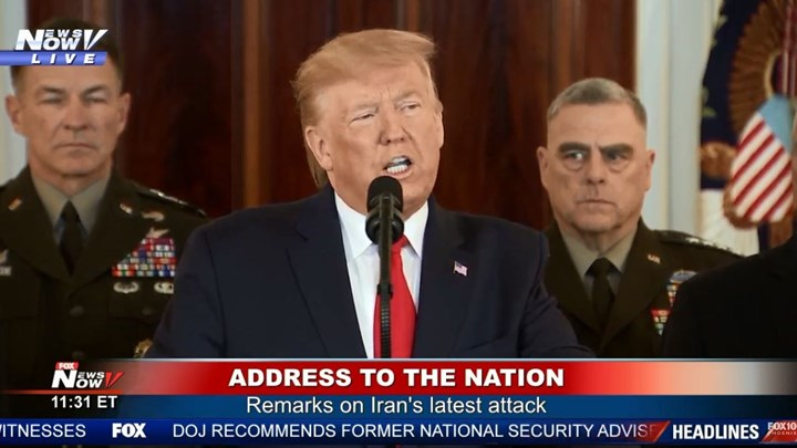 ΑΠΕΥΘΕΙΑΣ – Το διάγγελμα του Ντόναλντ Τραμπ για το Ιράν